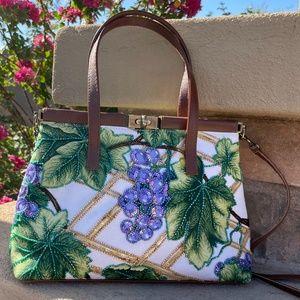 Isabella Fiore Beaded Grape Vine Rare Handbag